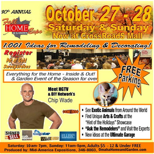 Crossroads Mall Omaha Ne: 30th Annual Omaha Fall Home And Garden Show