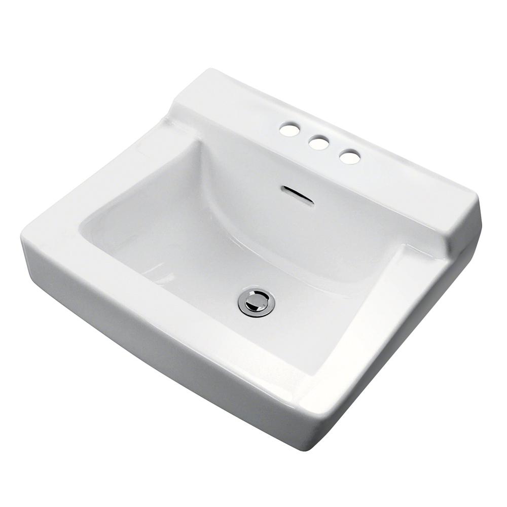"Bathroom Sink 19 X 17 plymouth 4"" centers wall hung bathroom sink | gerber plumbing"