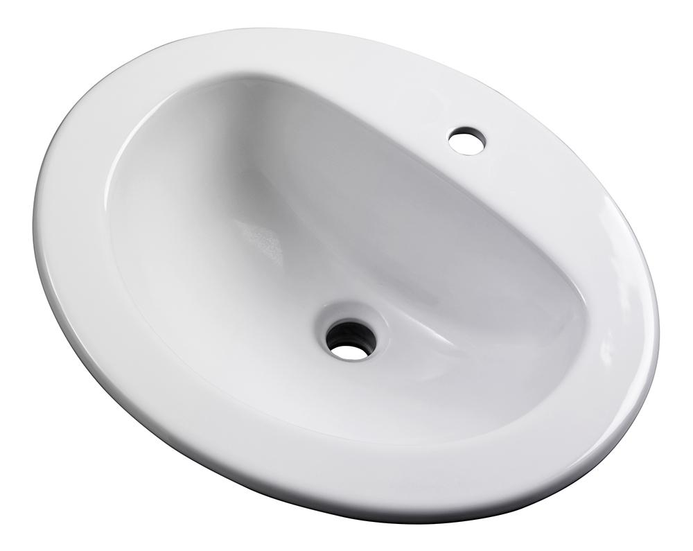 Maxwell 174 Oval Single Hole Self Rimming Bathroom Sink