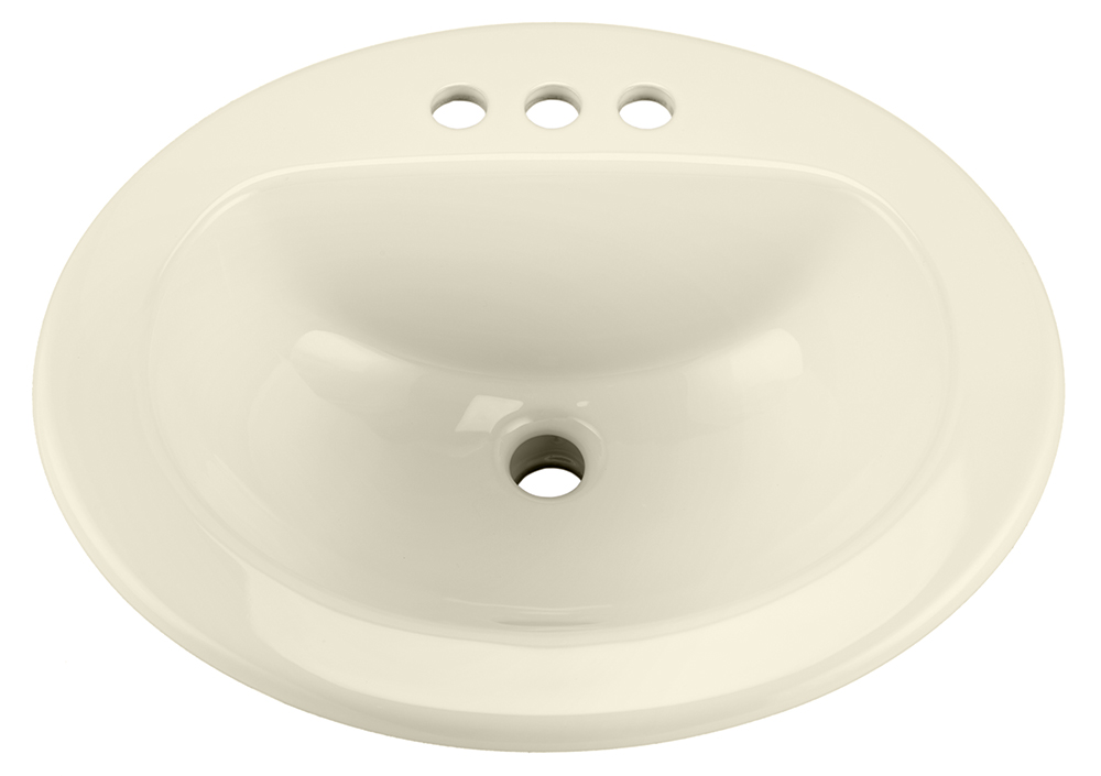 Maxwell 174 Oval 4 Quot Centers Self Rimming Bathroom Sink