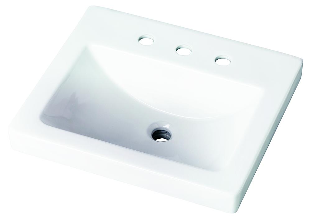 Logan Square Rectangular 4 Quot Centers Self Rimming Bathroom