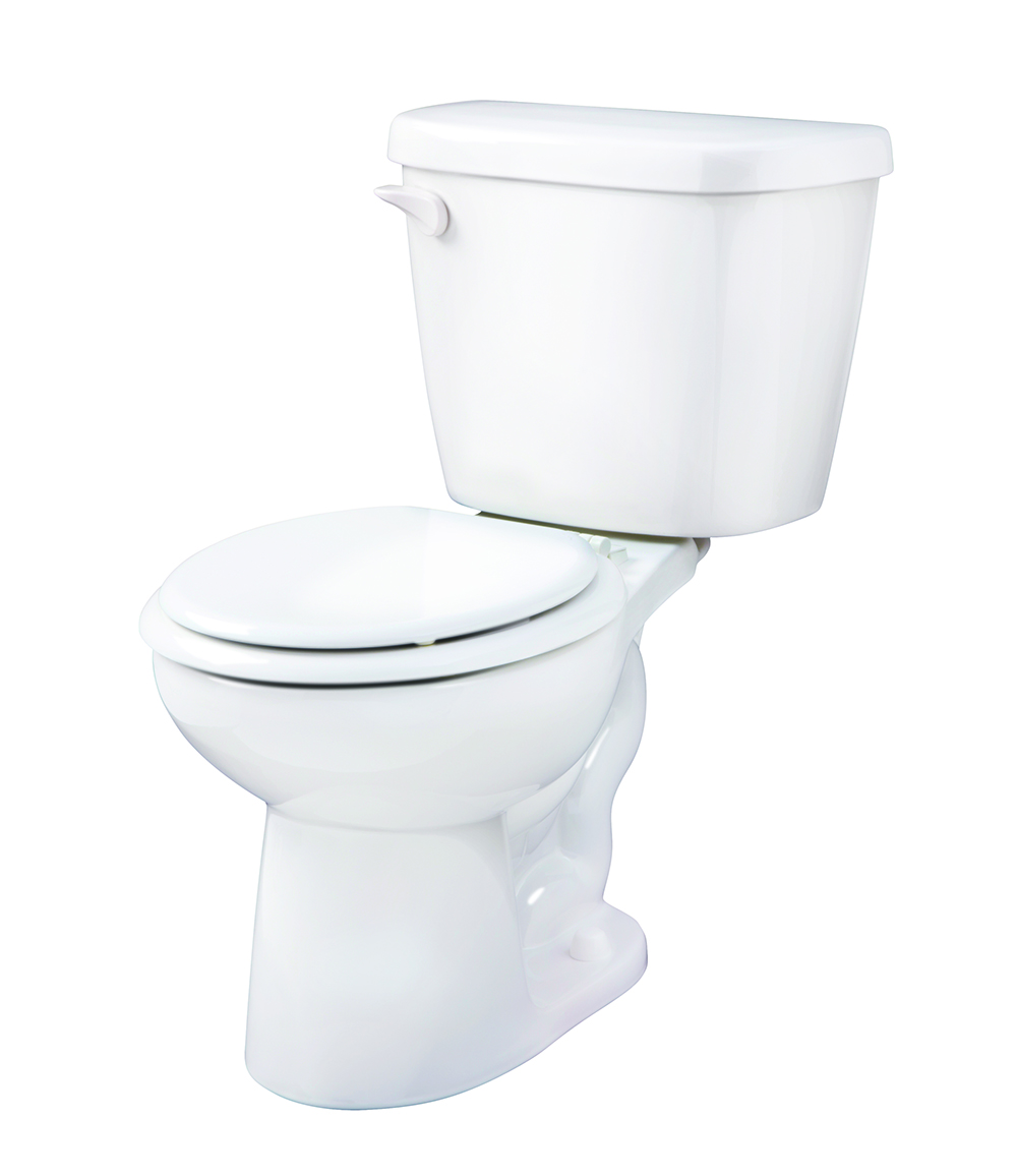 Maxwell 1 6 gpf 12 rough in two piece round front toilet for Gerbiere toit