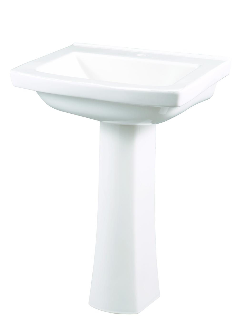 Burr Ridge Single Hole Standard Pedestal Bathroom Sink Gerber
