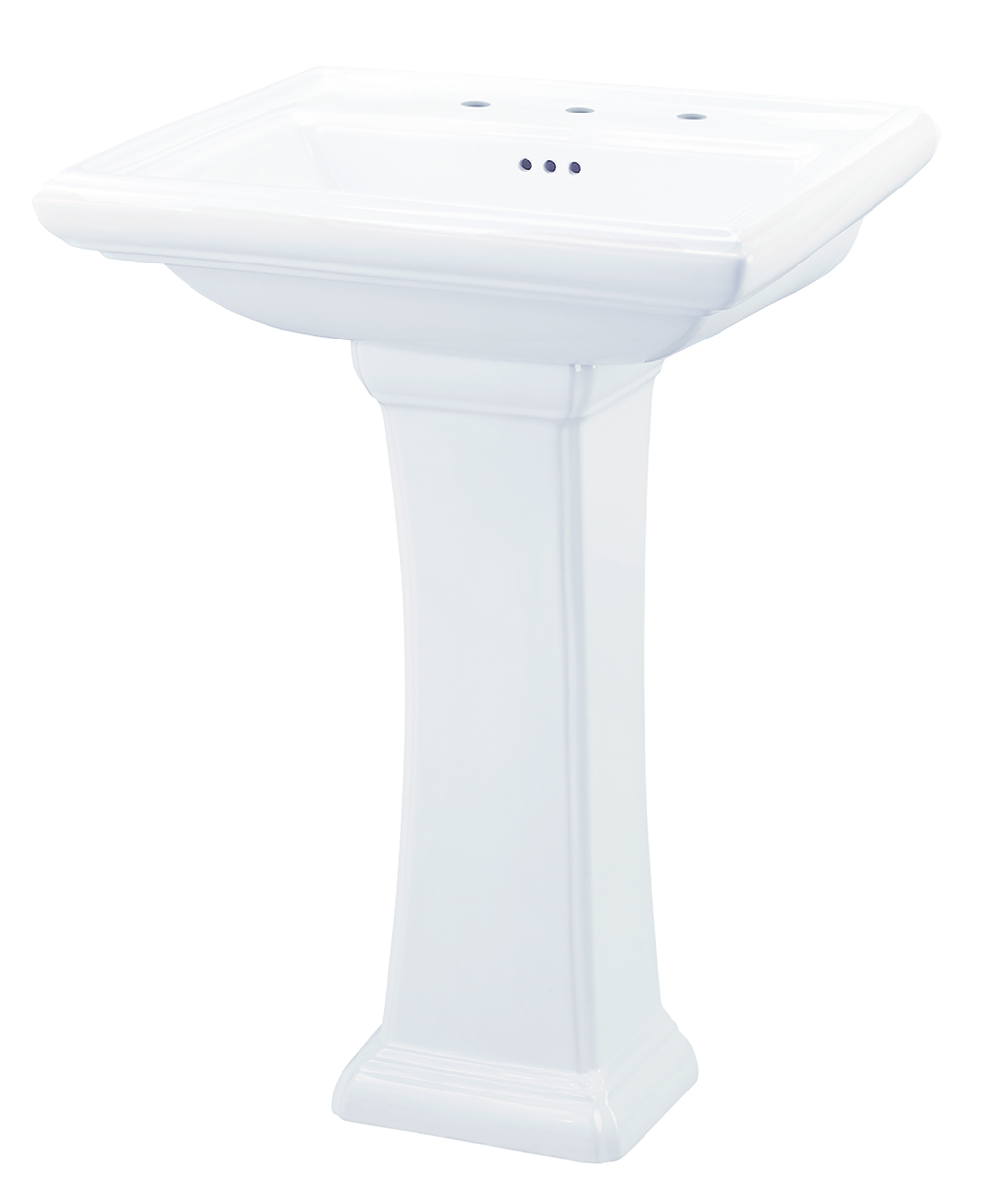 bathroom pin porcelain black stanford mini pedestal white and sink