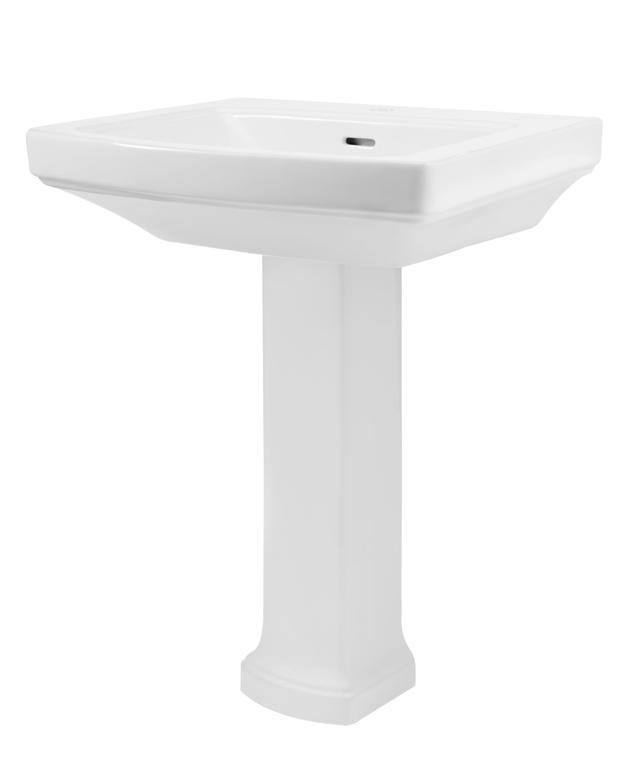 Standard bathroom sink - Hinsdale Single Hole Standard Bathroom Sink With Pedestal Gerber Plumbing