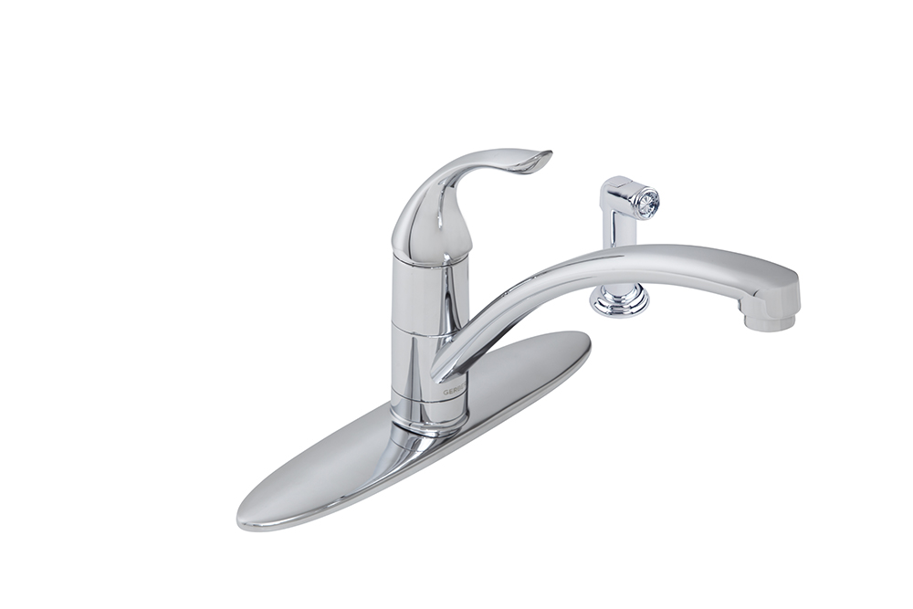 viper single handle kitchen faucet with spray gerber plumbing