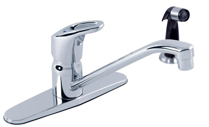 Gerber® Hardwater™ Single Handle Kitchen Faucet With Spray | Gerber Plumbing