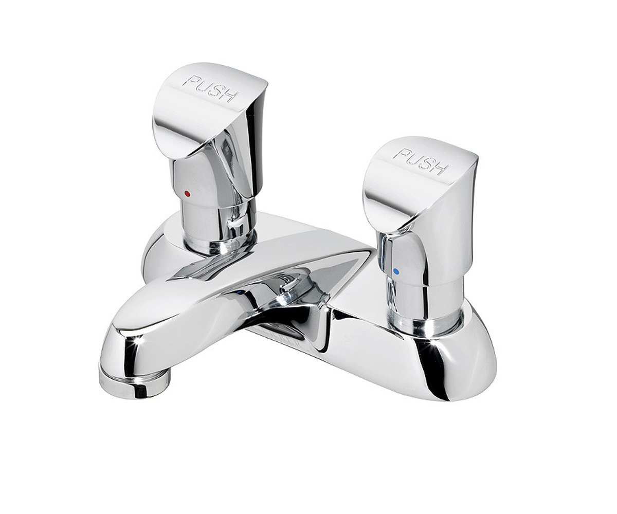 DISCONTINUED Commercial Two Handle Metering Lavatory Faucet | Gerber ...