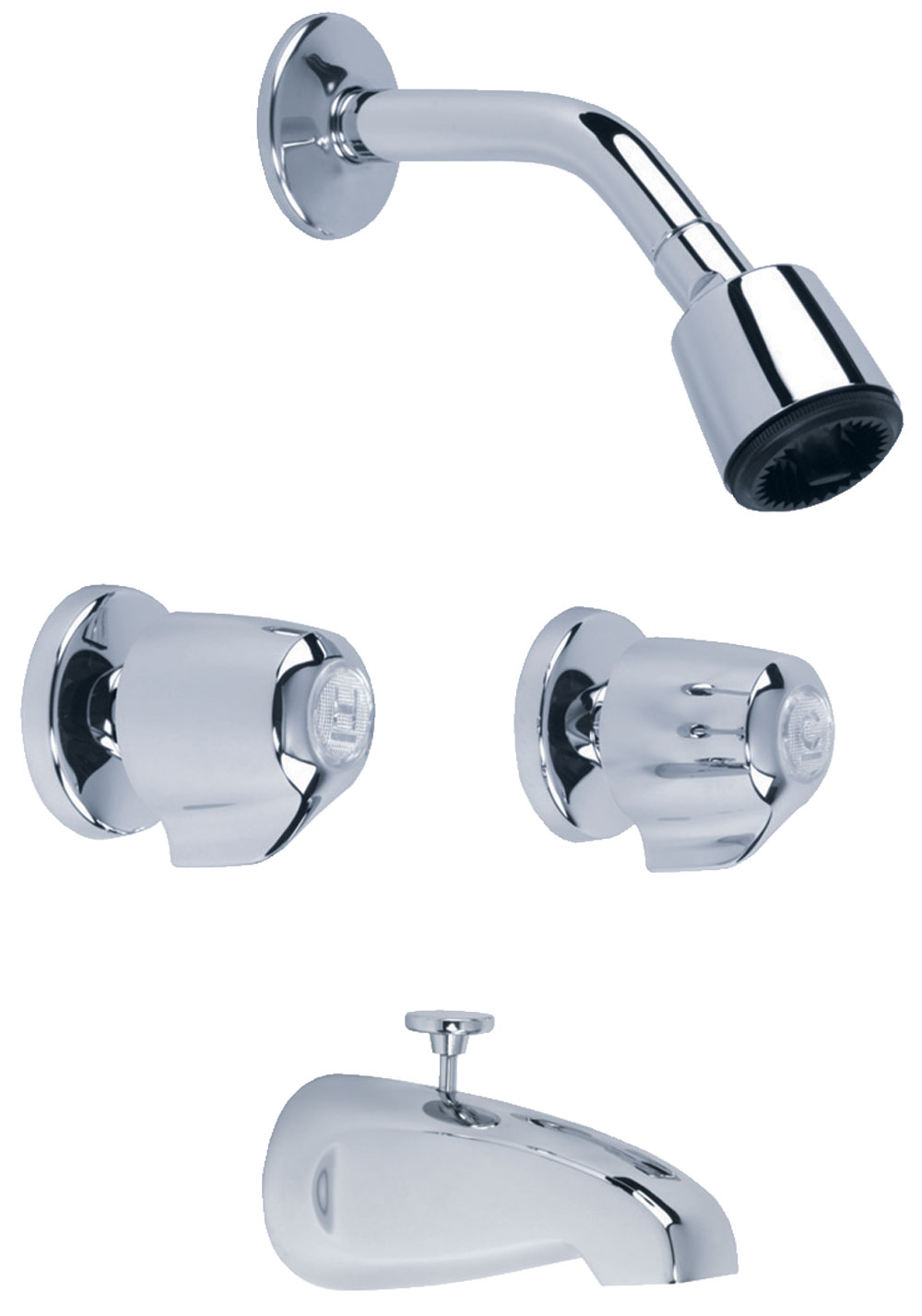Gerber Classics 6 Inch Centers Two Handle Tub Shower Fitting 20