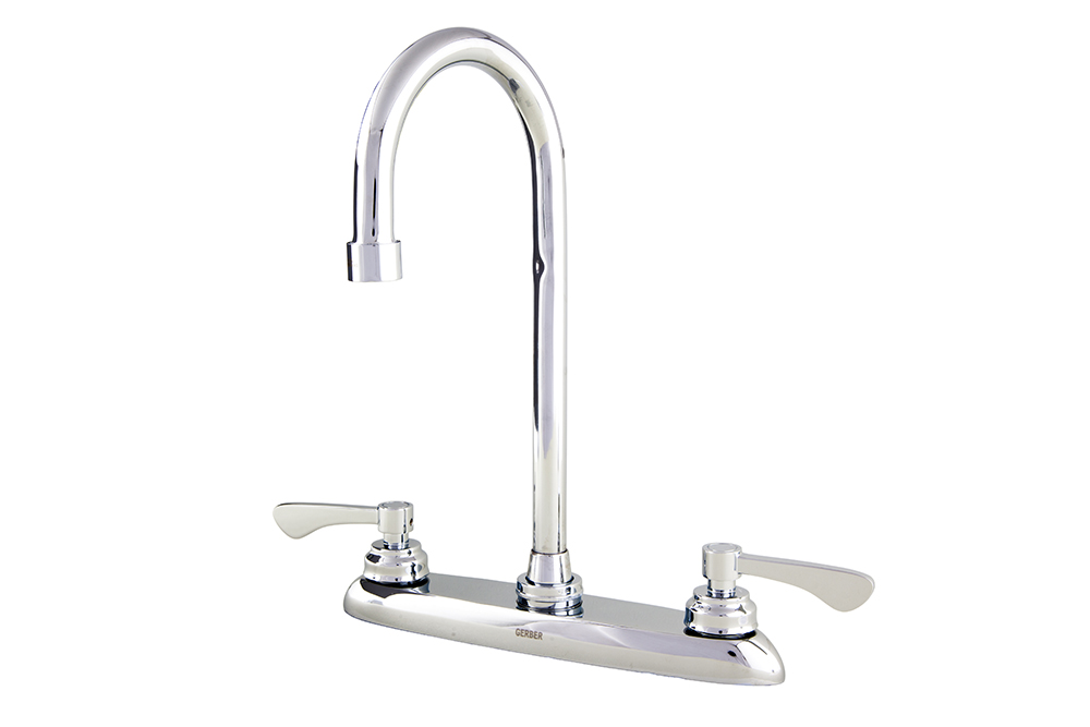 commercial two handle 3 hole installation kitchen faucet