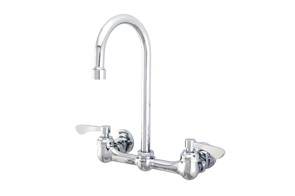 Commercial Two Handle Wall Mount Kitchen Faucet Gerber