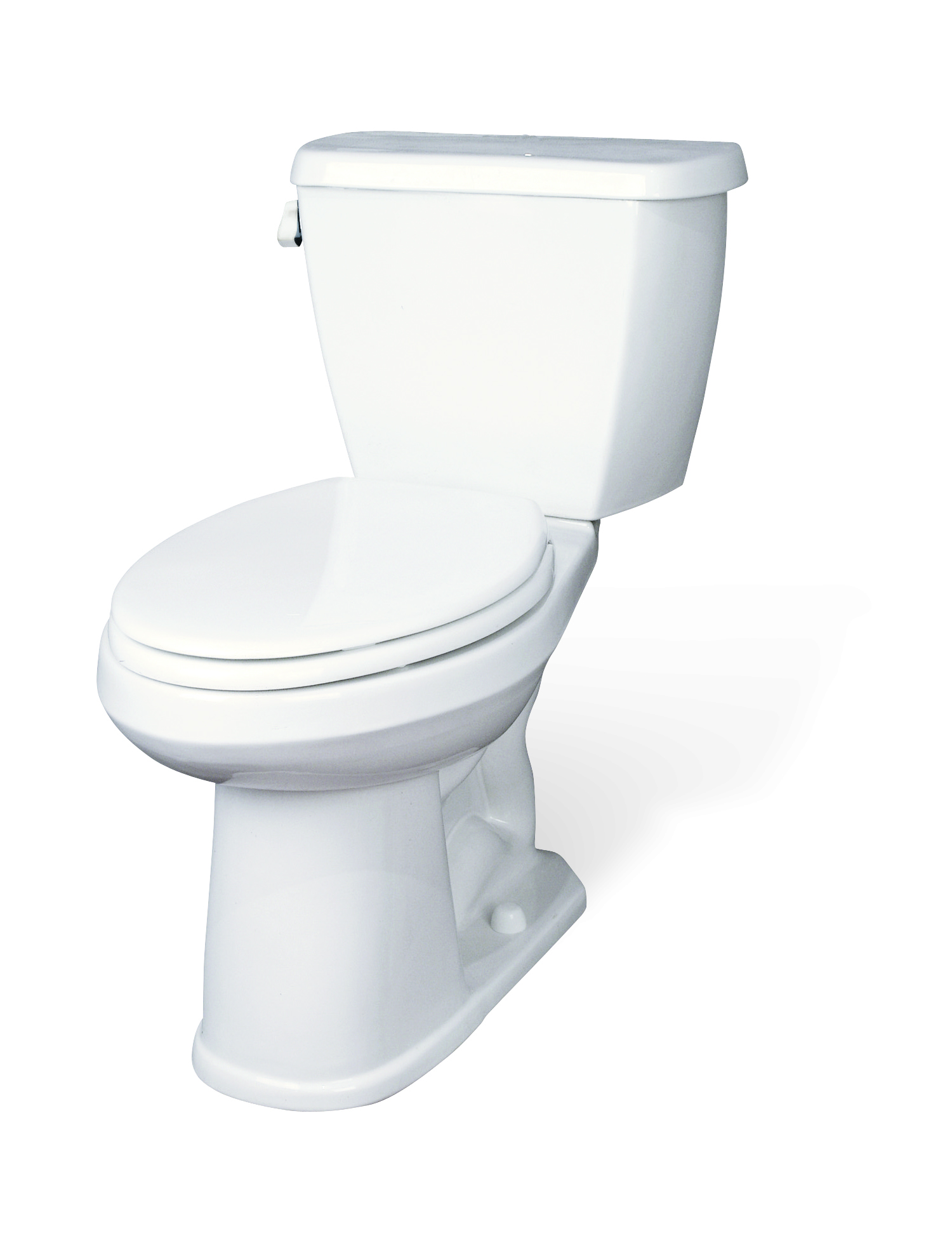 Avalanche 1 6 gpf 12 rough in two piece elongated toilet for Gerbiere toit
