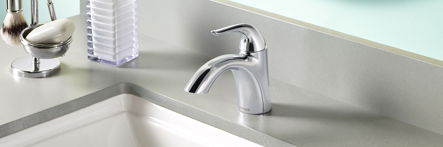 plumbing product gerber shore w faucets down touch chrome south lavatory single faucet drain hole