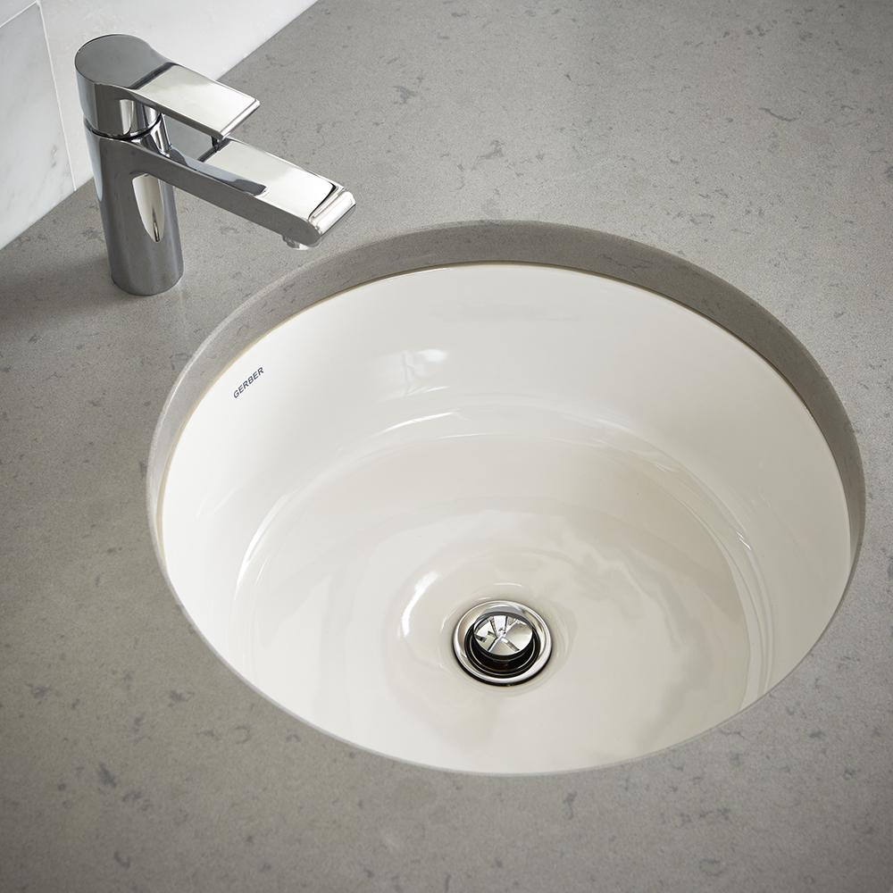Luxoval Round Undercounter Bathroom Sink Gerber Plumbing