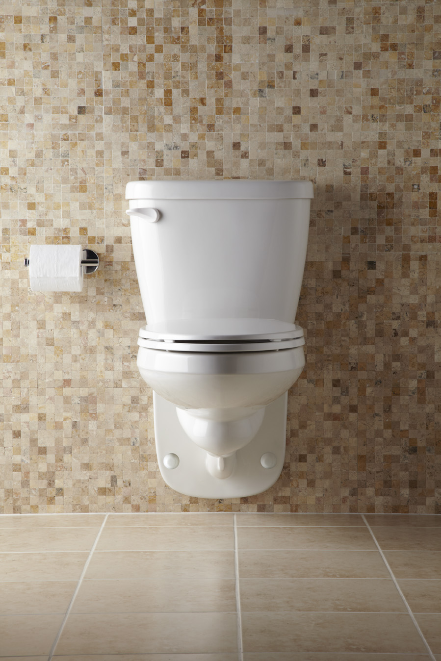"Maxwell® 1.28 gpf 4"" Vertical Rough-In Two-Piece Wall Hung Back Outlet  Compact Elongated Toilet 