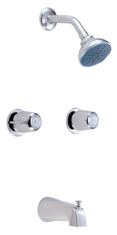 Gerber Classics Two Handle Threaded Escutcheon Tub Shower Fitting With IPS Sweat Connections 20gpm Chrome