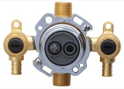 Treysta™ Tub & Shower Valve- Vertical Inputs With Stops- Crimp Pex ...
