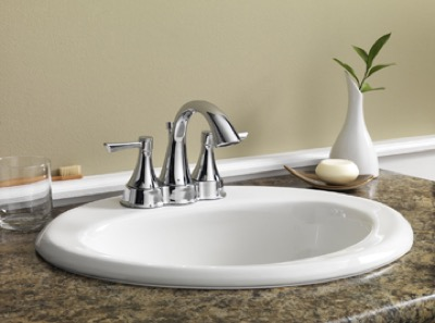 drop in bathroom sinks oval. Color  White Maxwell Oval 4 Centers Self Rimming Bathroom Sink Gerber Plumbing