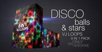 Disco ball and stars VJ loops pack