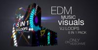 EDM music visuals vj loops pack