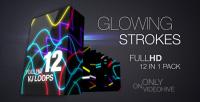 Glowing Strokes pack vj loops pack