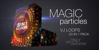 Magic Particles vj loops pack
