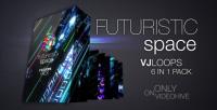 futuristic space vj loops pack