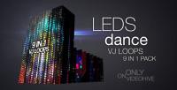 leds dance vj loops pack