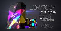 lowpoly dance vj loops pack