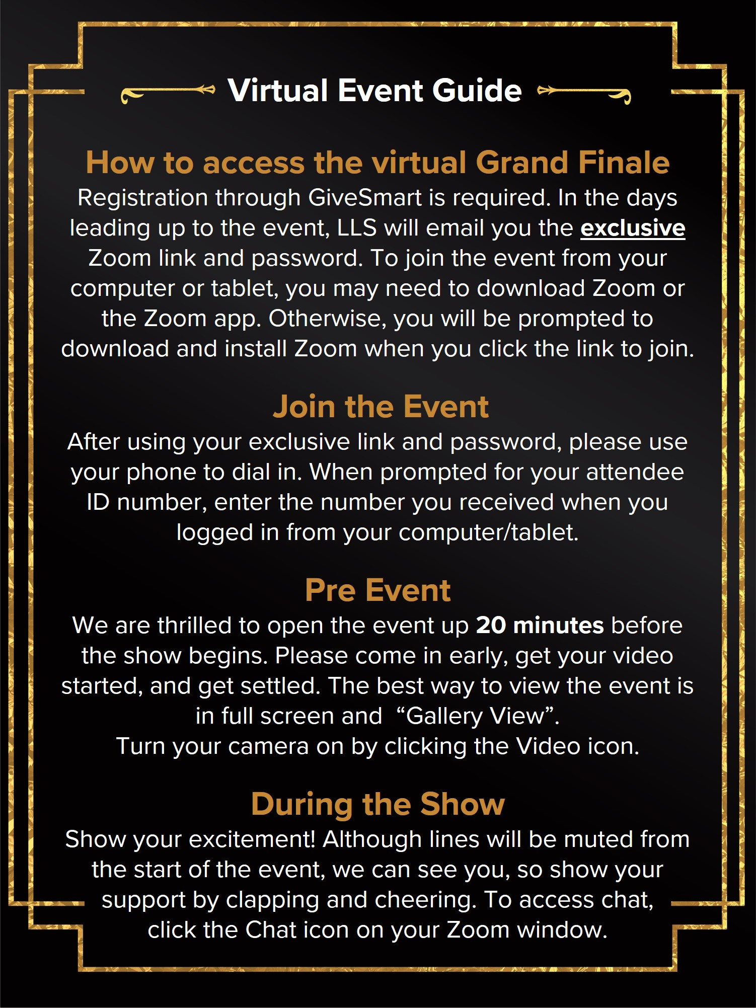 Virtual event guide