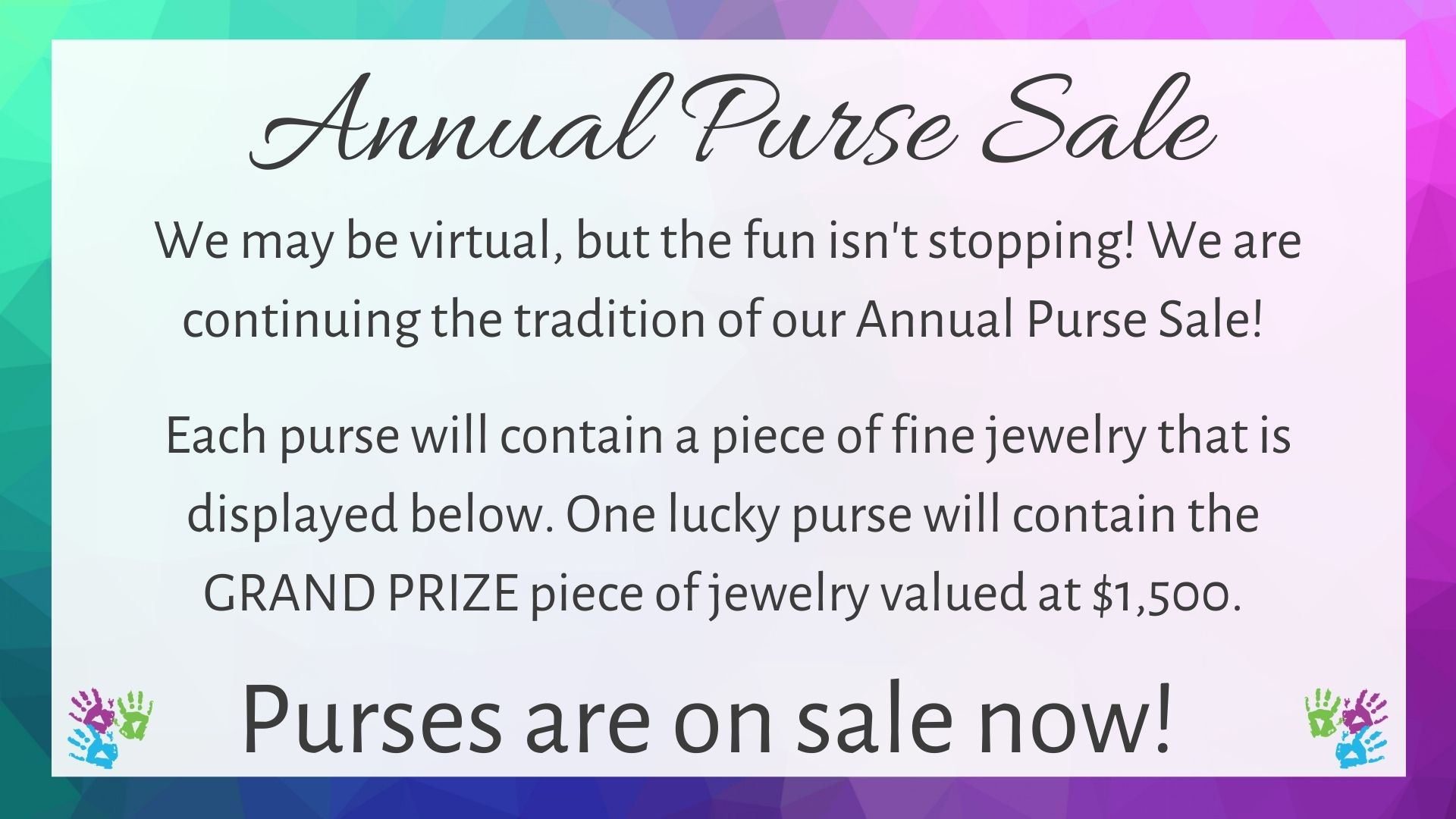 Annual Purse Sale