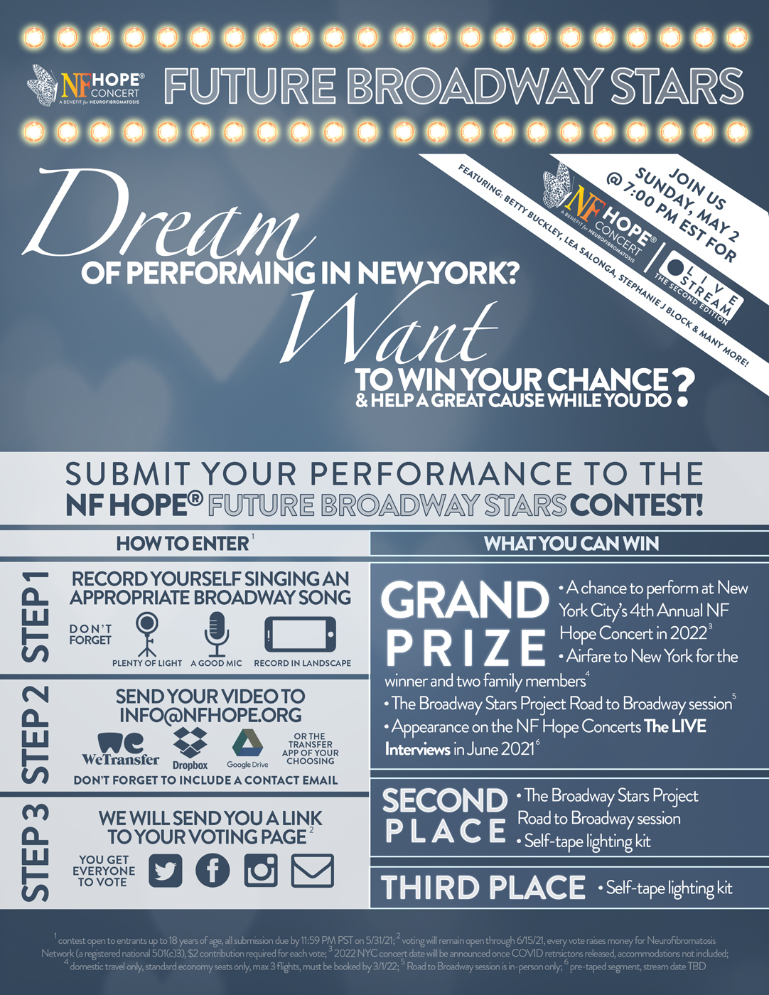 Enter the NF Hope Future Broadway Stars Contest