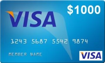 $1k Visa Gift Card