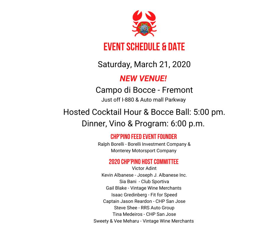 event schedule