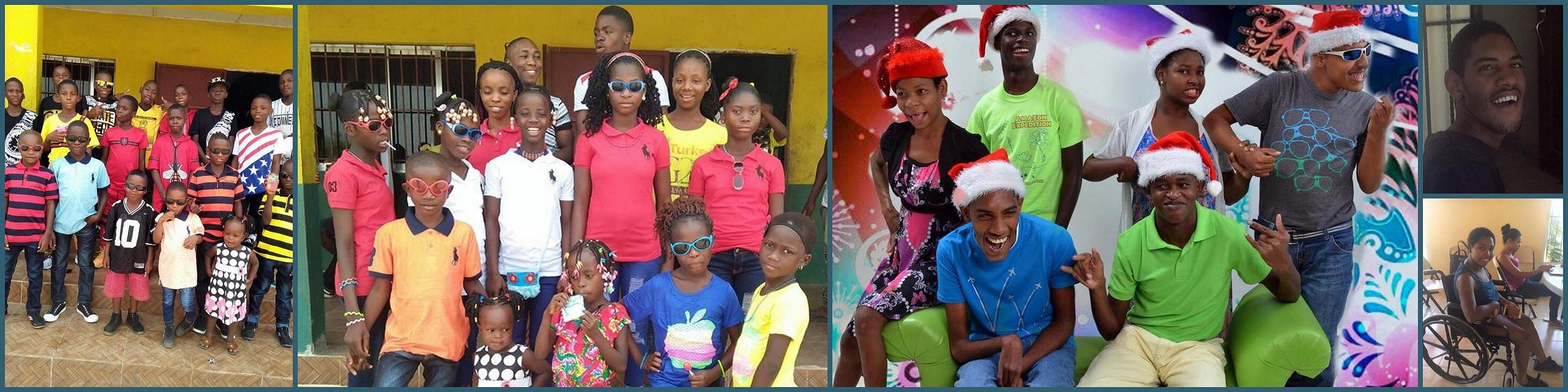 Kidsin the Dominican Republic and Liberia