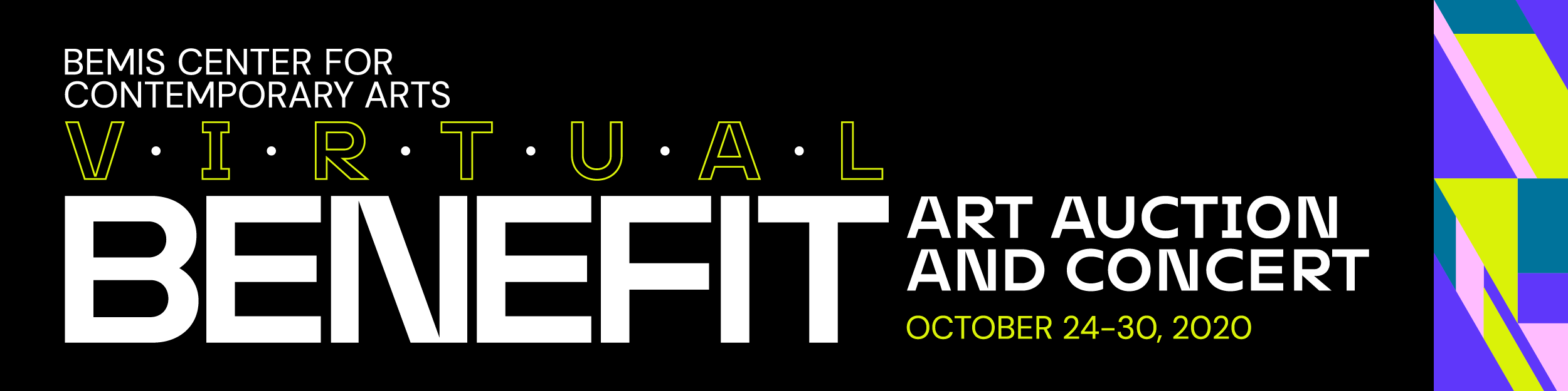 Virtual Benefit graphic with the date of the event: October 24-30, 2020.