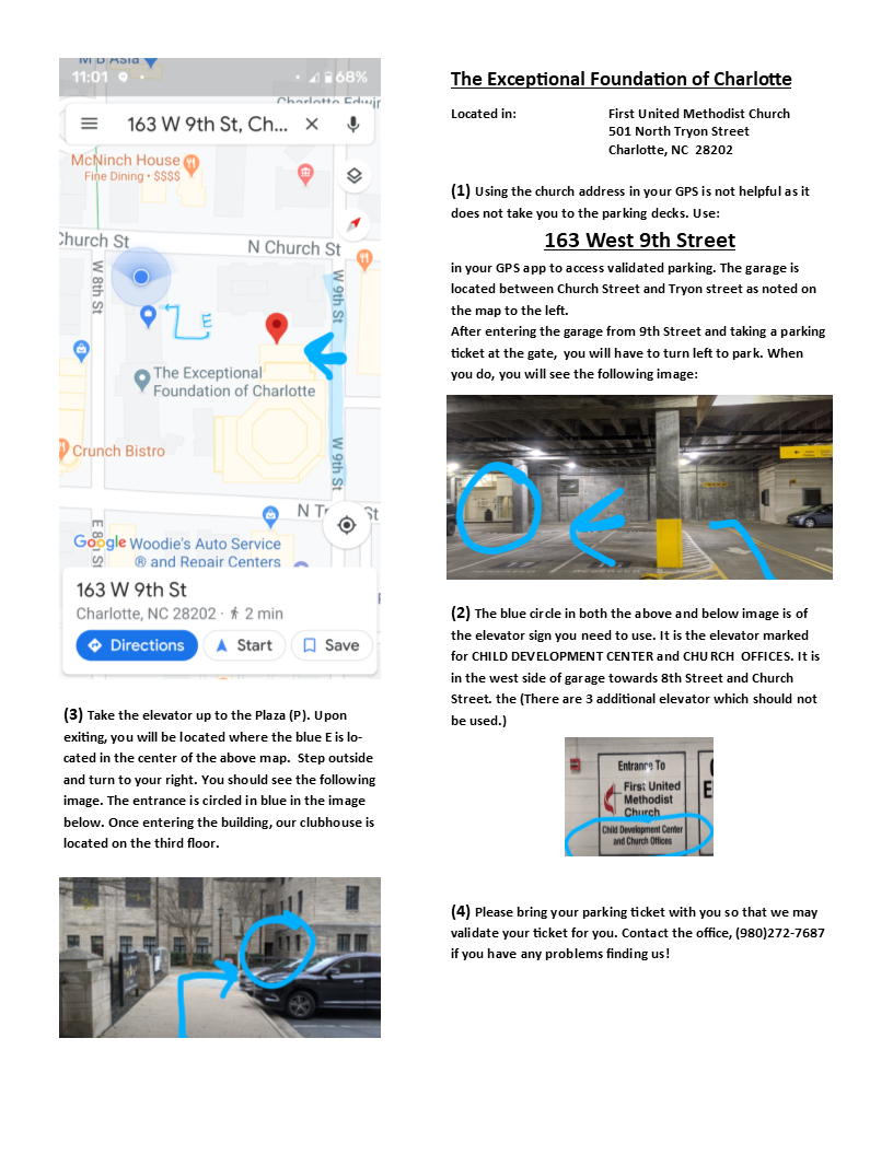 Parking Map / Instructions