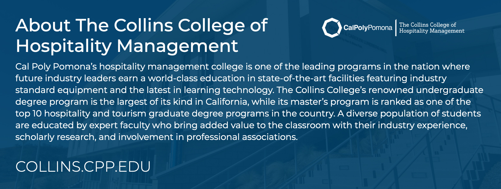 About The Collins College of Hospitality Management