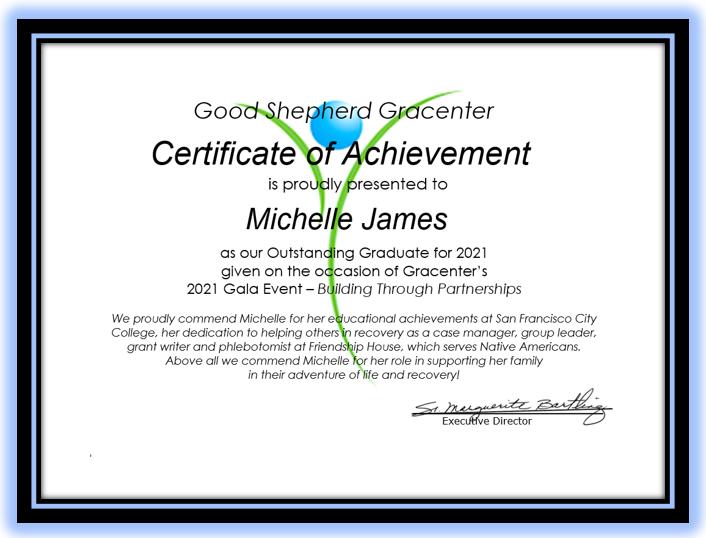 certificate--M. James