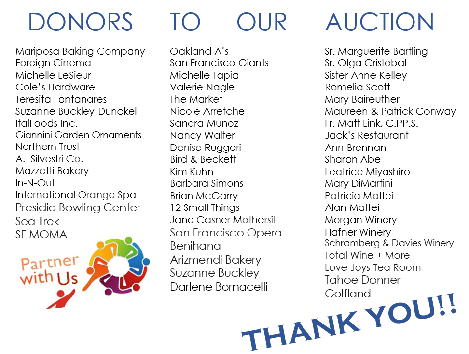 auction donors '21