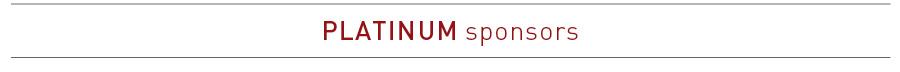 Platinum Sponsors Heading