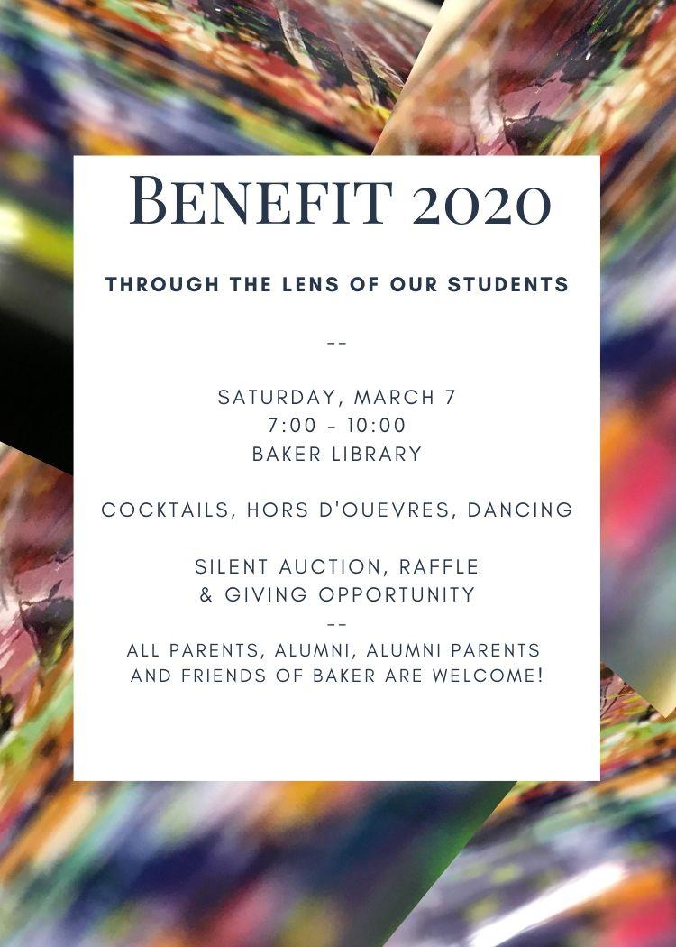 baker benefit 2020 event details