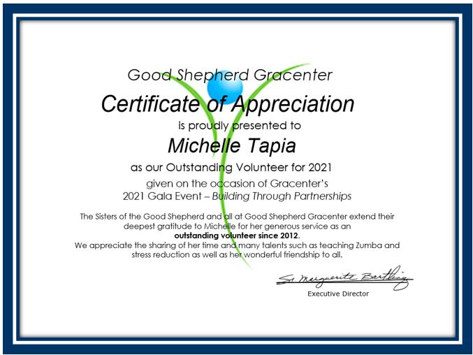 certificate--M. Tapia
