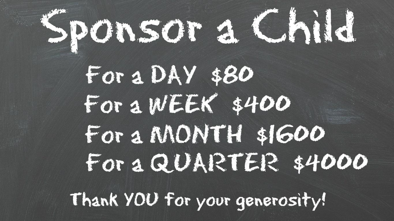 Sponsor a Child Graphic