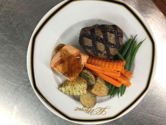 Petite Filet & Salmon Dual Entree