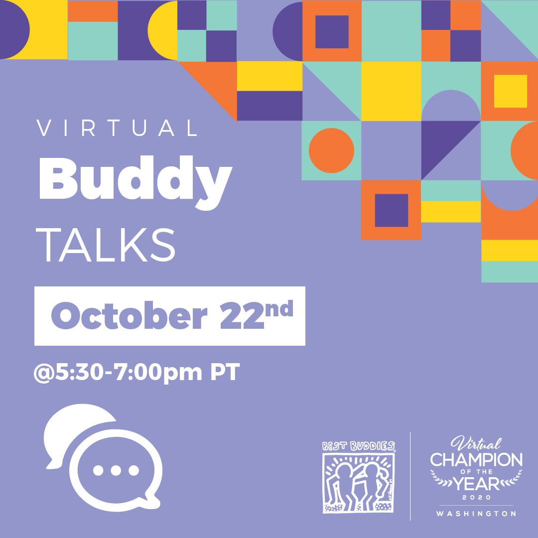 BuddyTalks, October 22nd, 5:30-7:00pm
