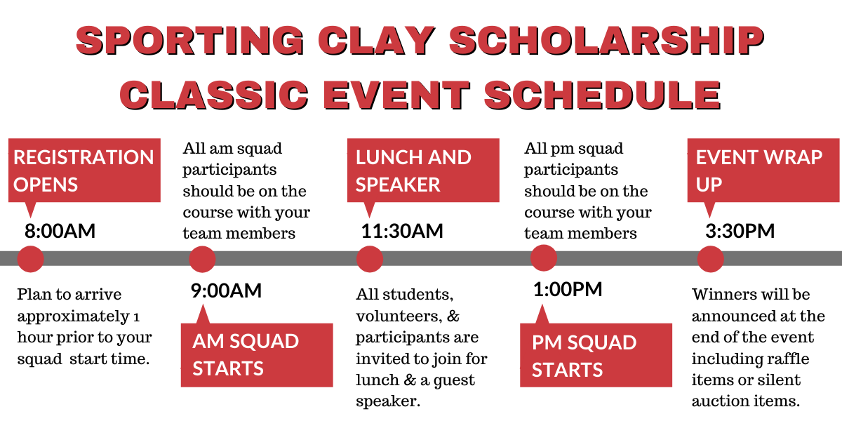 Sporting Clay Event Schedule