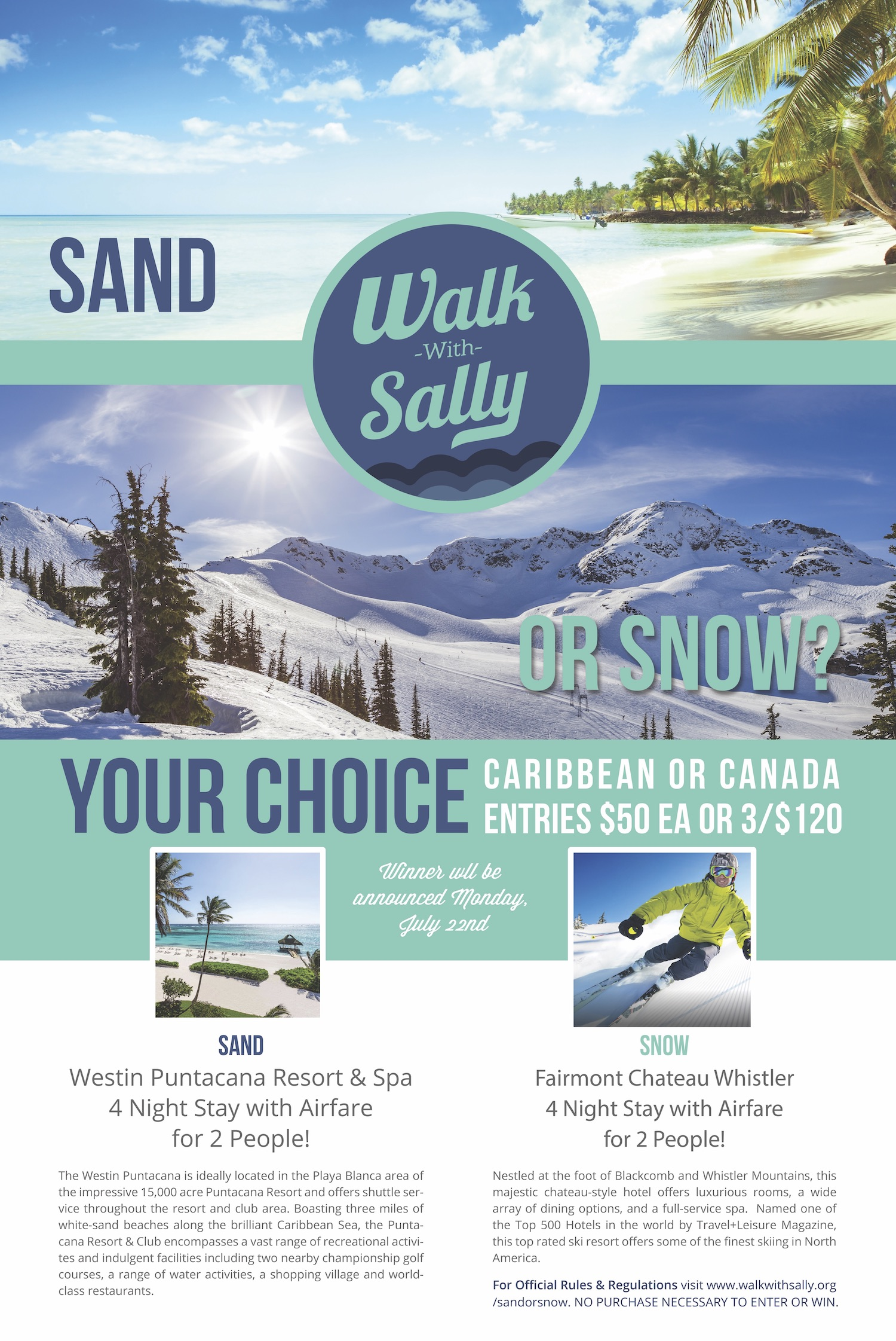 Sand or Snow Poster