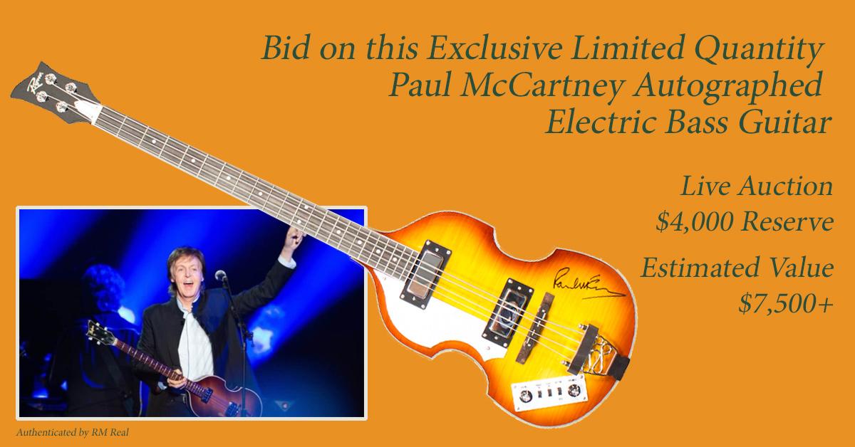 Bid on this limited edition Sir Paul McCartney Guitar