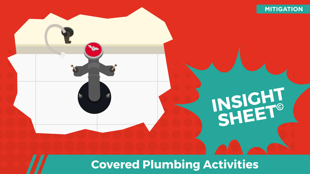Actionable Insights Covered Plumbing Activities